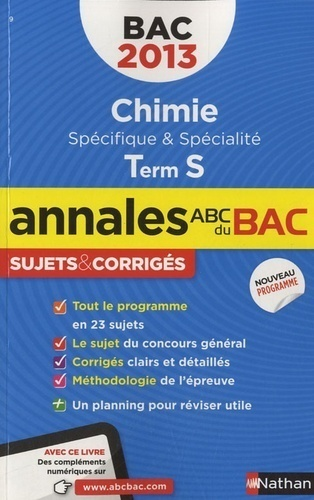 Chimie Tle S - Michel Faye - Nathan